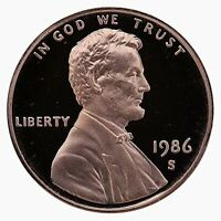 1986-S Proof Lincoln Cent Nice Coins Priced Right Shipped FREE