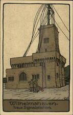 Wireless Radio Signal Station Wilhelmshaven Art Deco Crafts Postcard c1910