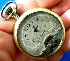Antique / Vintage  Hebdomaes Brevet 8 Days Swiss Made Pocket Watch   Runs