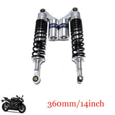 "Adjustable 2PCS 360mm/14"" Motorcycle Scooter Rear Air Shock Absorber Fit Honda"