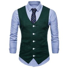 New Fashion Mens Vest Double Breasted Plaids Checks Waistcoats 9 Colors CAV3035