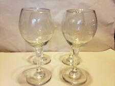 4 Libbey Christmas Winter White Frosted Pine Trees Wine Goblets Glasses Arby's