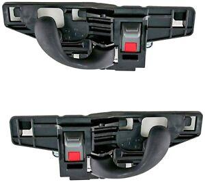NEW Inside Front Door Handles Set Black for 99-04 S10 Sonoma 98-05 Blazer Jimmy