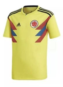 Adidas Colombia World Cup Home Socccer Jersey Youth Large BR3509 Yellow NEW $70