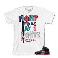 Tee para que coincida con Air Jordan Retro 5 Top 3. lucha Camiseta Top 3