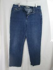 LEE relaxed straight leg womens size 12 med blue jeans med wash