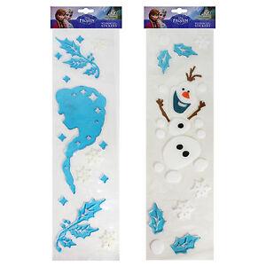 Christmas Window Decoration Window Gel Stickers Frozen Olaf and Elsa