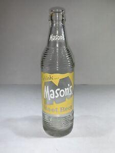 Mason/'s Root Beer Vintage ACL 10 oz Amber Soda Pop Bottle Chicago Illinois SB61