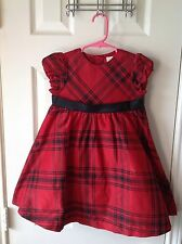 Girls holiday dress red and black plaid size 3