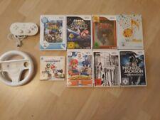 Nintendo Wii Spielesammlung (Mario Galaxy, Mario Kart + Lenkrad, Zelda uvm.)