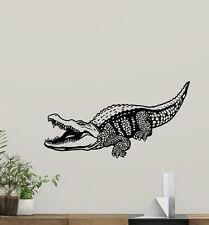 Crocodile Wall Decal Alligator Vinyl Sticker Jungle African Decor Poster 130hor