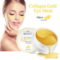 ALIVER 30 Pairs Anti Aging Dark Circle Collagen 24k Gold Eye Patches Pad Mask