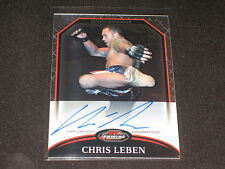 CHRIS LEBEN UFC 2011 TOPPS CERTIFIED HAND SIGNED AUTOGRAPHED AUTHENTIC CARD