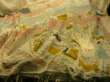 """Lisa Angel scarf map 70"""" X  37"""" LET'S FIND A BEAUTIFUL PLACE TOGETHER  S184"""