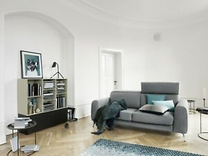 BoConcept Madison Designer Fabric Gray Feature Sofa Bed Two-Seat Couch