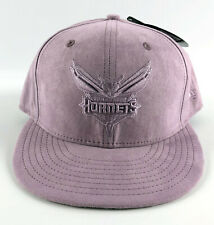 Charlotte Hornets Baseball Snapback Hat New Era 9Fifty Pink Suede