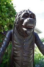Early American Folk Art  Carved Monkey Butler w/Metal Star Mounts/Oyster Shell