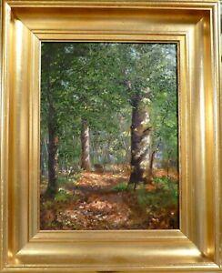 VILHELM LEISNER! SMALL FOREST LANDSCAPE