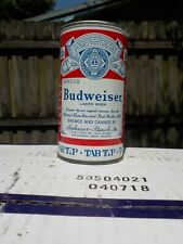 BUDWEISER TAB TOP ST LOUIS 5 CITY LINES UNEVEN VIRGINIA STAMP OLD BEER CAN