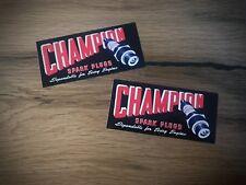 2x CHAMPION Aufkleber Sticker Züdkerze Spark Old School Vintage Oldtimer #008