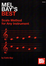 Mel Bay'S BEST SCALA metodo per qualsiasi strumento Colin Bay SCALE SPARTITO LIBRO