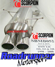 Scorpion BMW 323 E46 Stainless Steel Back Box (98-00) Exhaust Twin Oval & TUV