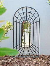 large 1m  PROVINCIAL BLACK  garden perspective illusion arch FRENCH MIRROR NEW