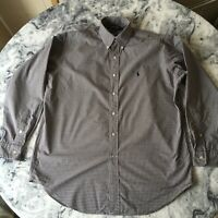 Polo Golf Ralph Lauren Tilden Men's Navy Burgundy Checked Long Sleeve Shirt M