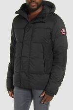 $2428 Canada Goose Mens Black Armstrong Down Hood Quilted Jacket Coat XS