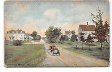 Maine-Hancock-Main Street View-Car-Homes-Antique Postcard