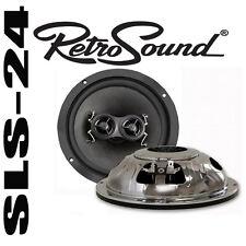 """RetroSound r-65n 6,5"""" 165 mm 100 W DVC-Coaxial Haut-parleurs Rétro Design Chromé"""