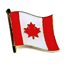 "CANADIAN FLAG LAPEL PIN 0.5"" Canada Maple Leaf Pinback Hat Tie Tack Metal Badge"