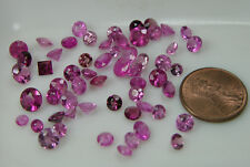 25.00ct Brazil 100% Natural Round Cut Pink RubelliteTourmaline Gemstones 3-6mm