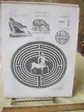 Vintage Print,LABYRINTH,Encyclopedia Britannica,1797-1820,Pl 259