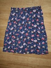 MILLERS SKIRT, NAVY WITH FLORAL PRINT, SIZE 22, GOOD CONDITION