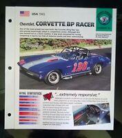 Imp 1965 Chevrolet corvette bp racer information  brochure hot cars vette