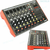 8 Channel Compact Mixer Bluetooth Audio Mixing Console Stereo DJ Studio USB MG8