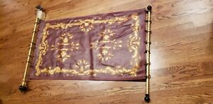 24kt Gold pt Leather Tapestry Wall Hanging Games of Thrones Style Gothic Medevil