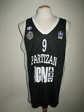 Partizan Belgrade #9 STANOJEVIC Basketball shirt Serbia jersey trikot size XXL