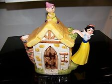 Vintage Disney Snow White & Dopey Dwarf Cottage Teapot Glass Ceramic Porcelain
