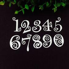 DIY Lace Numbers Metal Cutting Dies Stencil Scrapbooking Embossing Card Craft