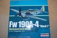 DRAGON WINGS 1:72 FW 190A-4 BLACK 1 HORST HANNIG 2/JG 2 TRIQUEVILLE 1943 50083