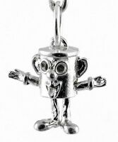STERLING SILVER MOVABLE MR DUSTYBIN CHARM