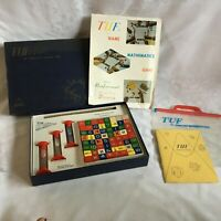 Vintage 1967 TUF The Superlative Numbers Game Wood Cubes Complete