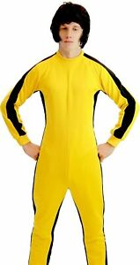 Adult Game of Death Kill Bill Bruce Lee Fight Costume