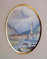 MINIATURES MOSTLY ITALIAN LAKES  CHIAVENNA ITALIAN SCHOOL W/COL C1860