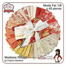 Madame Rouge Moda Fat Eighths 1/8 French General Fabric madam vintage Rouennerie