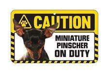 Dog Sign Caution Beware - Miniature Pinscher