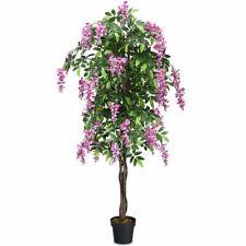 6-Feet Artificial Wisteria Silk Tree Pink Flower Indoor-Outdoor Home Décor