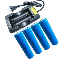 PKCELL 18650 Battery 30A High Amp 20C  x4 + Smart Dual Charger